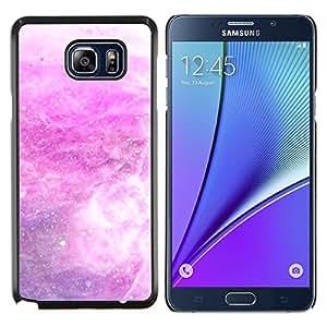 Caucho caso de Shell duro de la cubierta de accesorios de protección BY RAYDREAMMM - Samsung Galaxy Note 5 5th N9200 - Tormenta de nieve Estrellas blanca abstracta