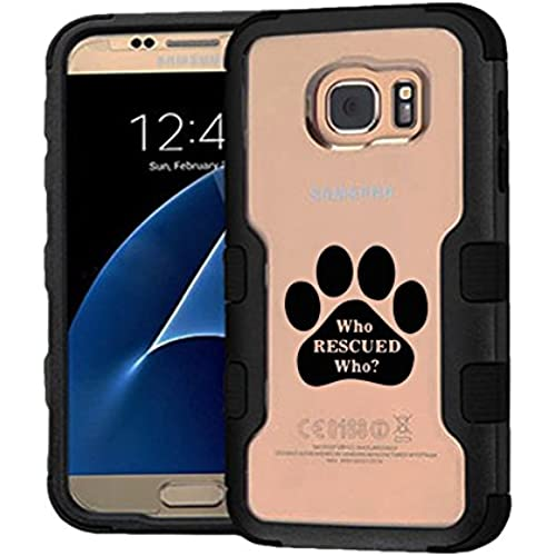 Galaxy S7 Case Who Rescued Who, Extra Shock-Absorb Clear back panel + Engineered TPU bumper 3 layer protection Sales