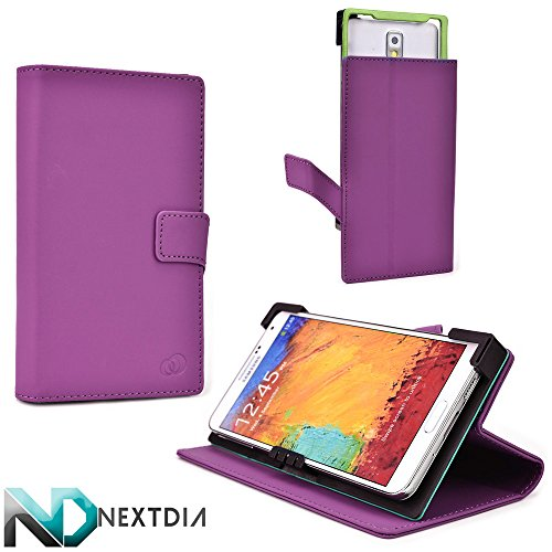Universal Smartphone Case, Oppo Find 7 QHD , Purple Monstro with Kickstand Option + ND Cable Tie