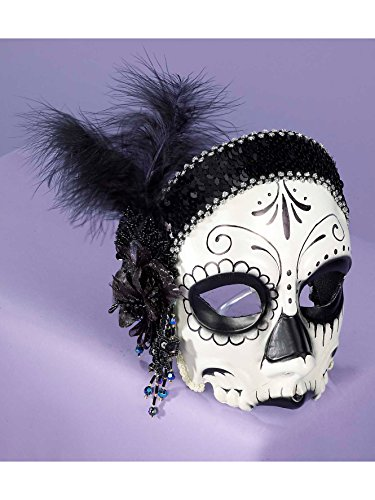 Forum Novelties Day of The Dead Flapper Half Mask