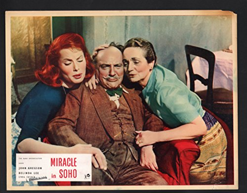 MOVIE POSTER: Miracle in SOHO Lobby Card-John Gregson, Belinda Lee, and Cyril - Soho In Store