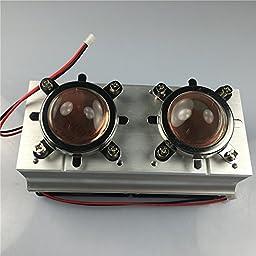 Led World Twin Cooling fan Aluminium Heat Sink+60-80° 44mm Lens Reflector Bracket for 20-100W High Power led