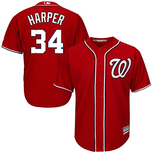 OuterStuff Bryce Harper Washington Nationals Red Infants Cool Base Alternate Jersey (18 Months)