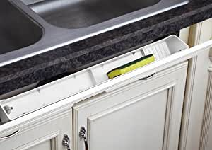 "Tip-Out Tray LD Deluxe w/ 45 Degree Hinges for Sink & Base Accessories - LD-6591-30-11-1 - 30""W x 2-1/8""D x 3-13/16""H - White"