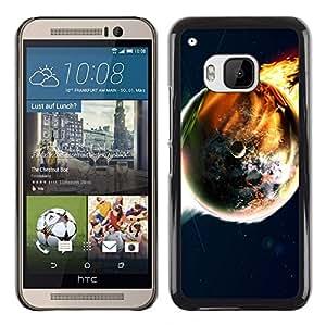 TopCaseStore / la caja del caucho duro de la cubierta de protección de la piel - Space Planet Galaxy Stars 50 - HTC One M9