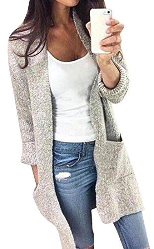 Grey Cardigan Sweater - 1
