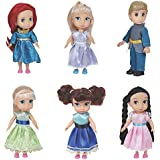 "Liberty Imports Fashion Princess Toddler Mini Dolls 6"" Collection Girls Gift Set (Pack of 6)"
