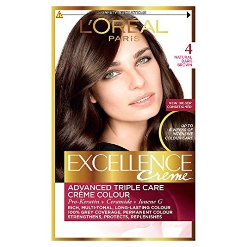 L'Oreal Excellence Permanent Hair Colour 4 Natural Dark Brown