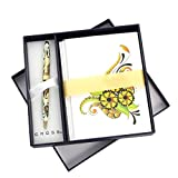 Cross Botanica, Golden Magnolia, Ballpoint Pen with Botanica Note Cards (AT0642-1/1)
