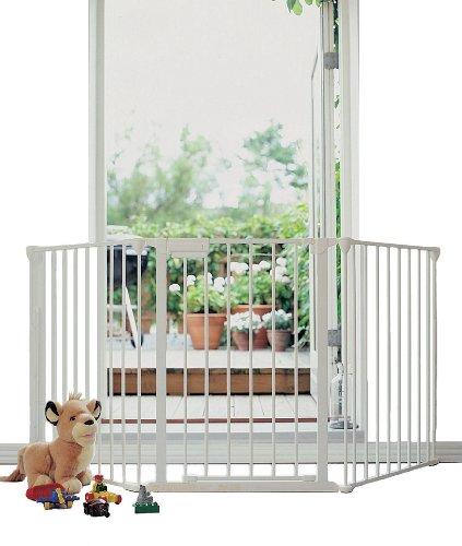 Baby Dan 5624-10400-17-85 - Türschutzgitter, Flex 3, weiss,  Türbreite 90-180 cm