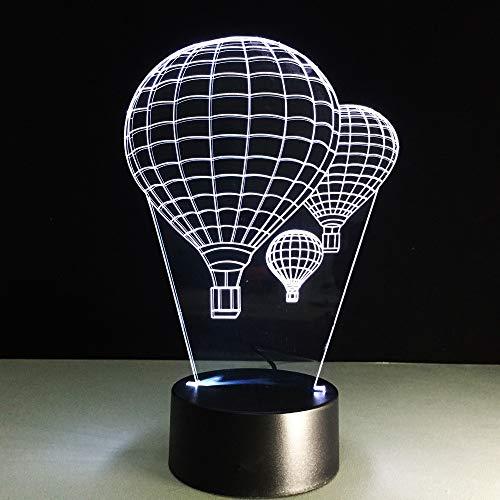 JIAHUADE Novelty Home Decor Bedroom 3D Hot Air Balloon Night Light Led USB Desk Lamp Bedside Baby Sleep Balloon -