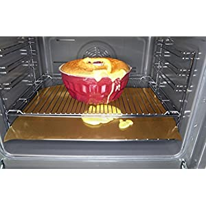 Cooks Innovations Copper Non-Stick Oven Liner 16.5×23″ – Heavy Duty Sheet to Catch Spills in Convection, Electric, Gas, Toaster & Microwave Ovens