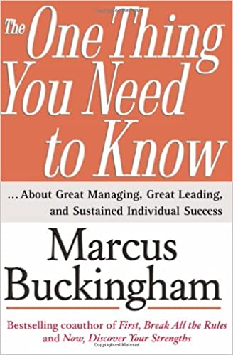 amazon the one thing you need to know marcus buckingham
