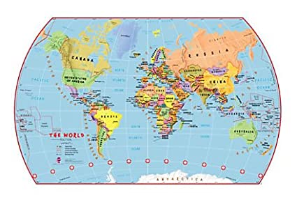 Amazon large childrens political world wall map without flags large childrens political world wall map without flags grades 1 6 laminated gumiabroncs Image collections