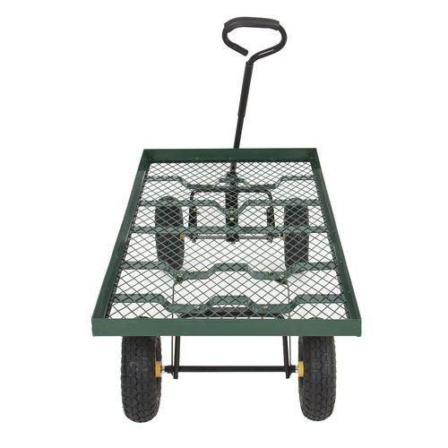 Nursery Wagon Garden Cart (Wagon Garden Cart Nursery Trailer Heavy Duty Cart Yard Gardening)