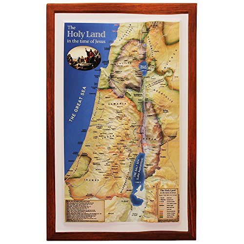 Raised Relief 3D Map of Israel in Jesus' Time (Shows Place Names Under Roman Rule)]()