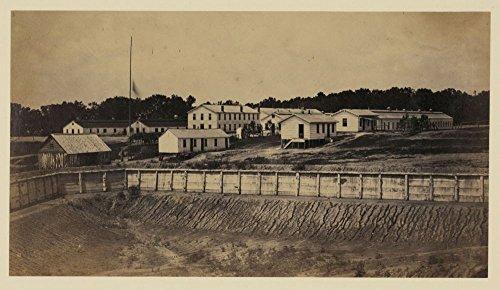 1865 Photo Barracks Of Ft  Carroll  Wash   D C  Photograph Showing Barracks At Fort Carrol  Near Giesboro  Washington  D C  Location    Washington D C