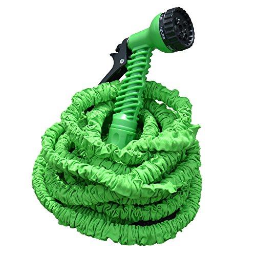 Profi Gartenschlauch Set AQUA PRO | flexibel - leicht - platzsparend | 2-fach Schlauch für hohen Druck | 7 Brause Funktionen | grün 22,5 m Länge
