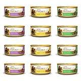 Nature's Variety Instinct Grain Free Canned Wet Cat Food Variety Pack – 5.5 Ounces – 3 Flavors – Chicken, Lamb, and Rabbit (12 Total Cans) For Sale