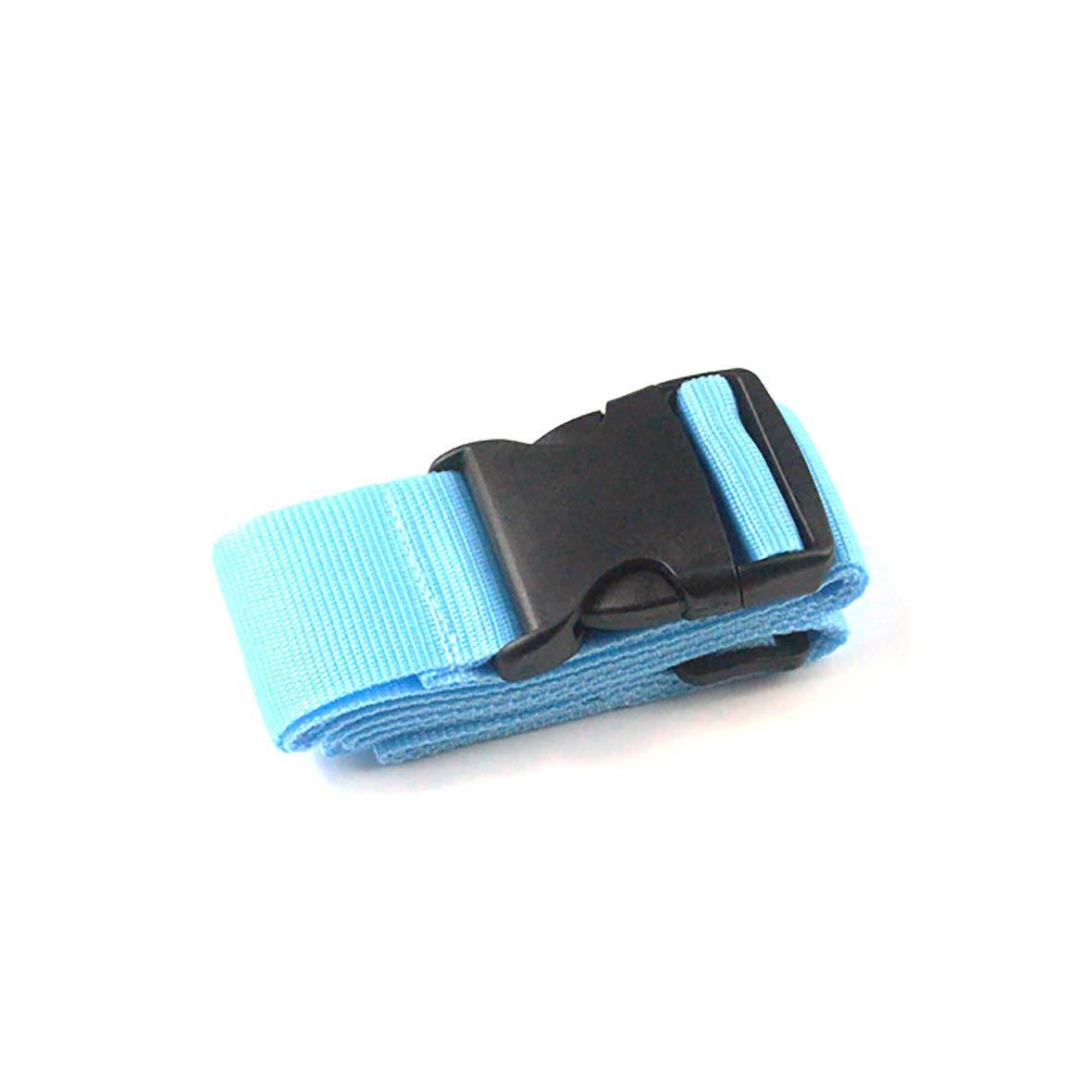 Bleu Emballage de Bagages avec Valise attach/ée avec lexp/édition Consignation Renfort Ceinture Valise Trolley avec Ceinture De Bagages