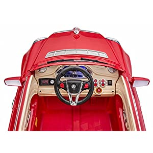 SPORTrax-Maybach-Luxury-Kids-Ride-On-Car-Battery-Powered-Remote-Control-wFREE-MP3-Player-Red