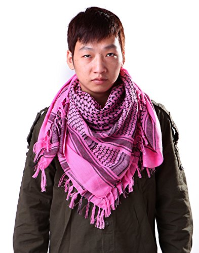 HDE Tactical Scarf Premium 100% Cotton Keffiyeh Shemagh Desert - Import It  All
