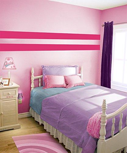 Borders Unlimited Dark Pink Simple Stripes