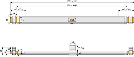 Abus PR 2600 B - Barra transversal con cilindro de seguridad 30/70 marrón: Amazon.es: Bricolaje y herramientas