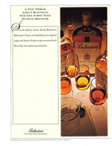 Vintage Print Ad: 1989 Ballantine's Finest Blended Scotch Whisky