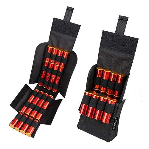Kosibate 25 Round Shotgun Shotshell Reload Holder Molle Pouch for 12 Gauge/20G (Black) …