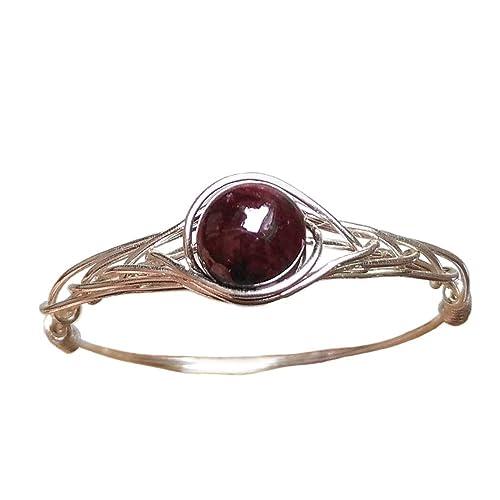 Ring Granat Rot 925er Silber Oval Größe 18 57 Sterlingsilber