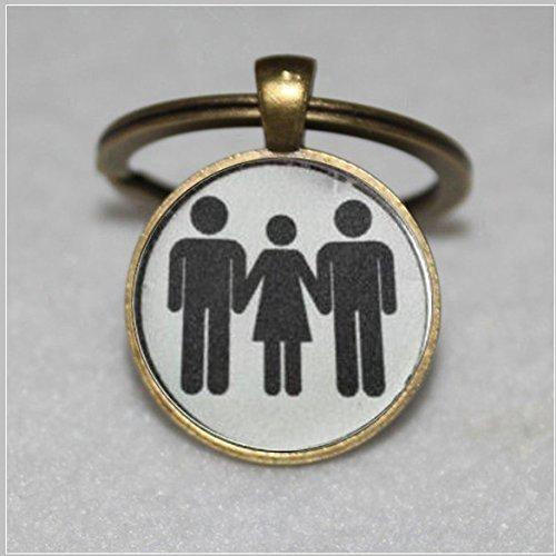 (Swinger Jewelry MFM Threesome Kinky Lifestyle Keychain Hotwife Hot Wife)