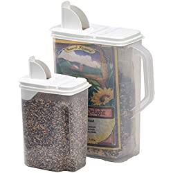 Buddeez 8 and 4-Quart Double-Pack Bird Seed Dispensing Set