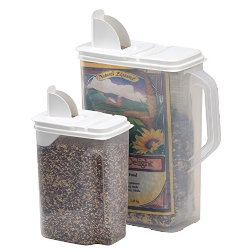 Buddeez 8 And 4-Quart Double-Pack Bird Seed Dispensing ()