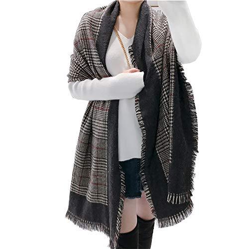 AIZGGE Soft Luxurious Blanket Tartan Scarf Wrap