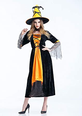 Amazoncom Opernfyh Halloween Witch Costume Party Cosplay For Women