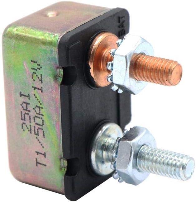 Disyuntor automático Starnearby 50 AMP 12V / 24V con Fusible 50A con Doble reinicio automático de la Cubierta