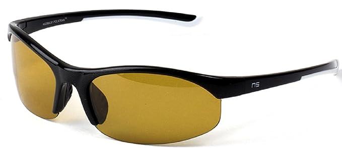 c309d2a03ef5 Amazon.com  Naute Sport Stride Polatran Black Frame Amber Lens ...