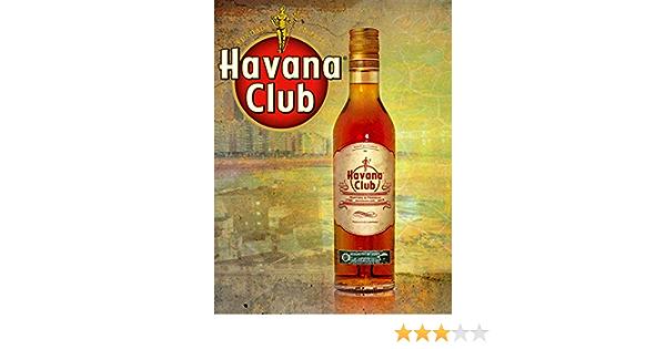 Wise Degree Havana ClubBar Cartel Club Pared Cocina Arte Cafetería Garaje Oficina Tienda Pub Decoración