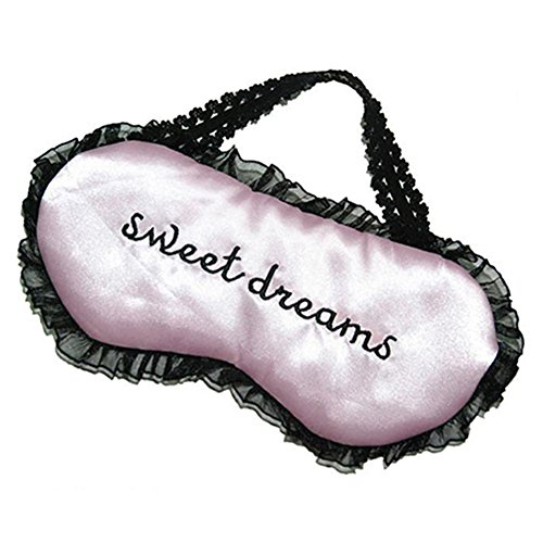 (Butterfly Iron Sweet Dreams Embroidered Women Eye Mask Sleep Lace Travel Sleeping Mask)