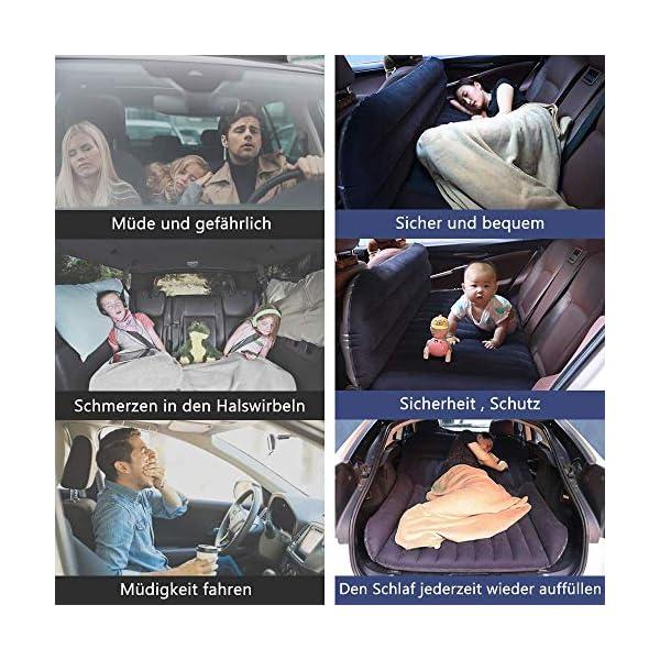 51aQdAjIBtL QDH SUV Auto Luftmatratzen-Camping Aufblasbare Matratze-Aufblasbares Bett für den Auto-Rücksitz-Dickere Luftbett Auto…