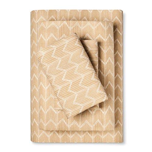 Threshold Flannel Sheet Set Golden Chevron - - Sheets Flannel Target