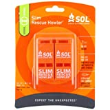 Adventure Medical Kits SOL Slim Rescue Howler  Whistle - Pack of 2 Pieces