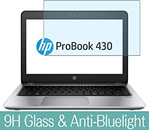"""Synvy Anti Blue Light Tempered Glass Screen Protector for HP ProBook 430 G4 13.3"""" Visible Area 9H Protective Screen Film Protectors"""