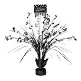 Amscan Classic Black and White Birthday Party Spray Table Centerpiece Decoration, Multi, 18'' Childrens (6 Piece)