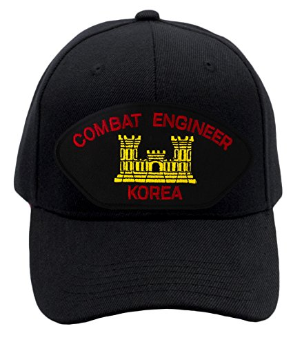 Patchtown Combat Engineer - Korea Hat/Ballcap (Black) Adjustable One Size Fits Most