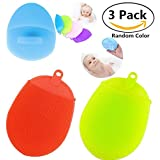 2 Silicone Bathing Brush & 1 Silicone Facial Cleansing Pads for Bonus,Carnationy Multifunctional Anti-bacterial Silicone Shower Pads Facial Scrubbers Soft Dish Washing Tool, Heat-resistant Mat