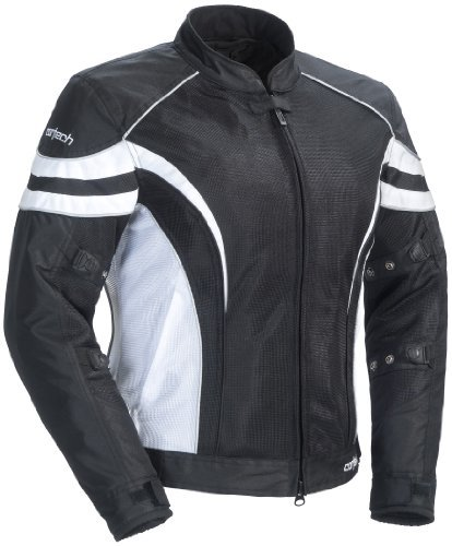 Road Two Stage Air Filter (Cortech LRX Air 2.0 Women's Textile On-Road Motorcycle Jacket - Black/White / Plus Large)