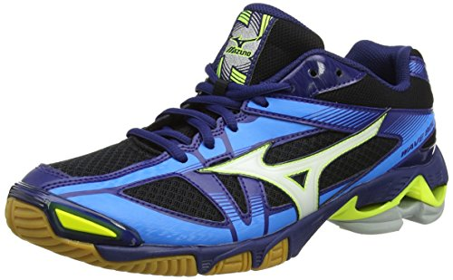 Mizuno Wave Bolt 6, Scarpe da Ginnastica Uomo Nero (Black/White/Blue Depths)