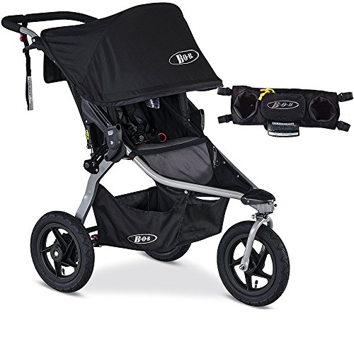 BOB Rambler Jogging Stroller - Black with FREE Diaper Bag by BOB (Image #7)